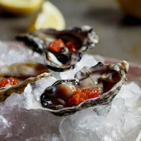 Oysters with Tobasco Granita
