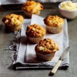 Pumpkin & Goat's cheese muffins