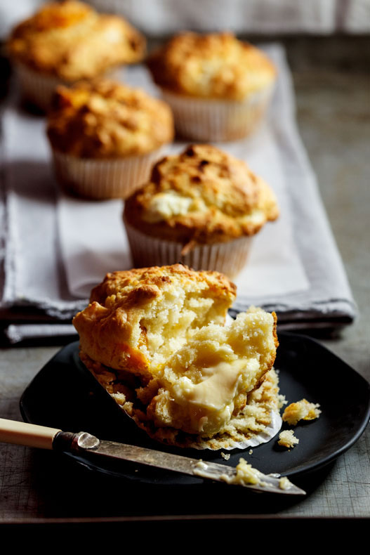 Goat's cheese pumpkin muffins