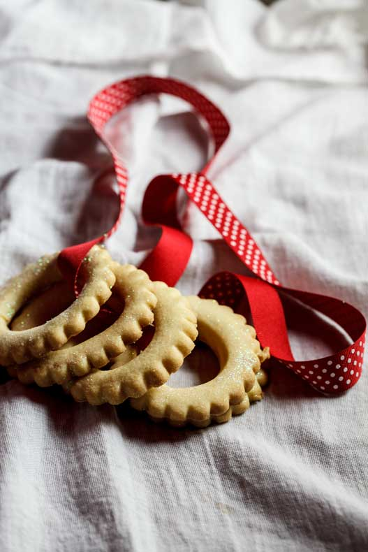 Sugar cookie Christmas wreaths