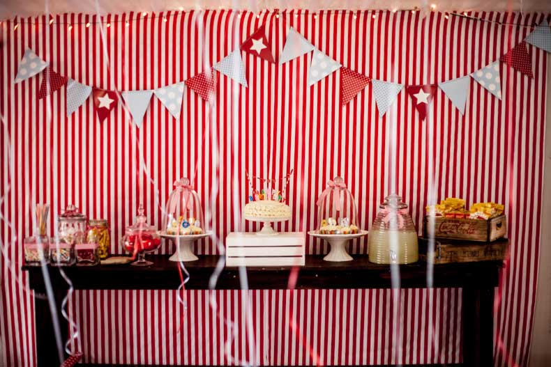 Circus Party Candy Buffet