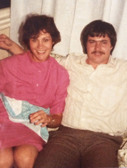 My mom and dad (in what can only be the 70's with that hair!)