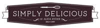 Simply Delicious Food footer logo.