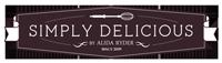 Simply Delicious Food footer logo.