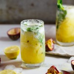 Fresh pineapple & passion fruit mojito