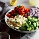 Chopped salad with lemon vinaigrette