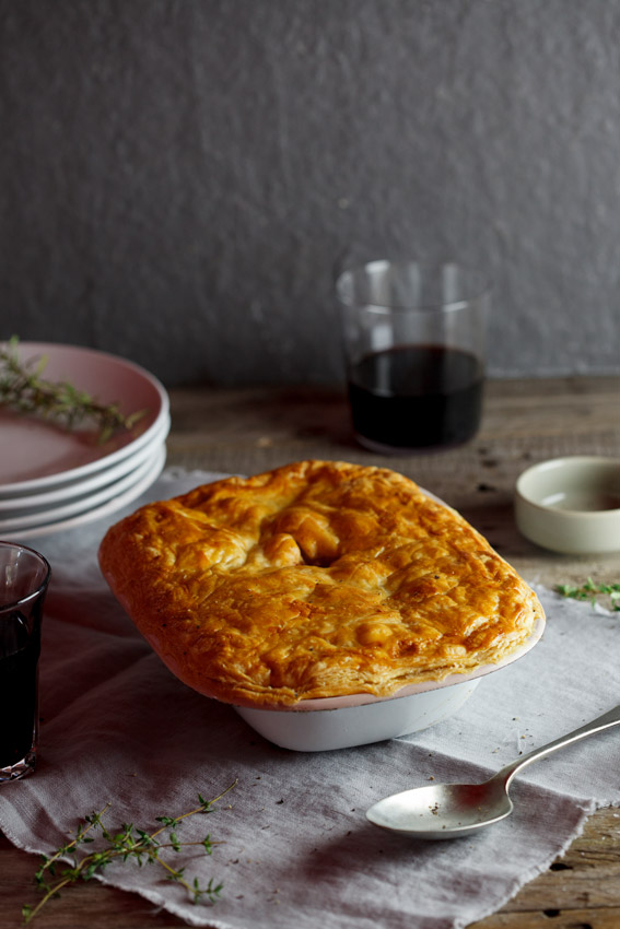 ... topped with golden puff pastry makes the ultimate lamb shank pie