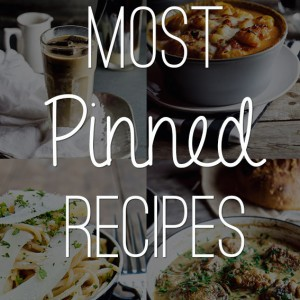 Most Pinned Recipes