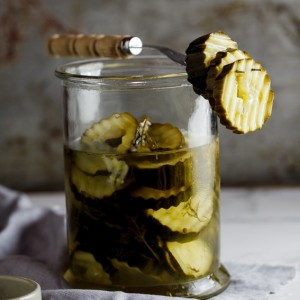 Home-made pickled cucumber