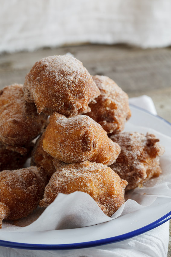 Apple Fritters with spiced sugar