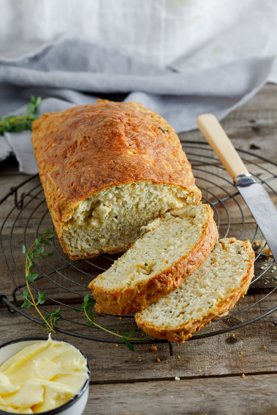 Cheese and herb beer bread