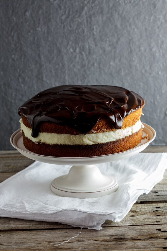 Coconut Boston cream pie