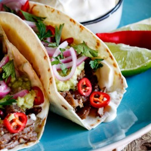 Slow-braised short rib tacos