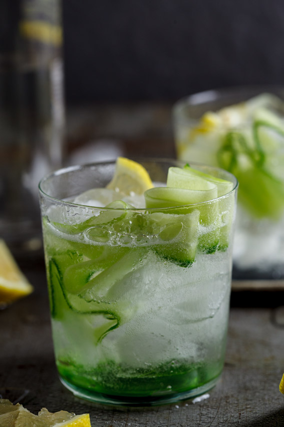 Gin & tonic with cucumber