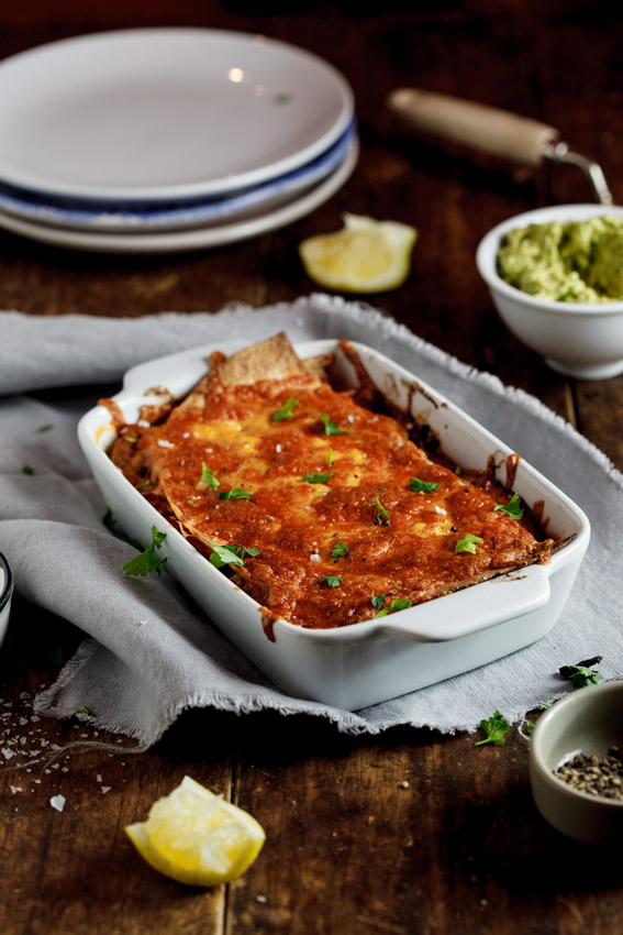 Vegetarian Enchilada Casserole - Simply Delicious