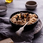 Cauliflower risotto with truffle oil
