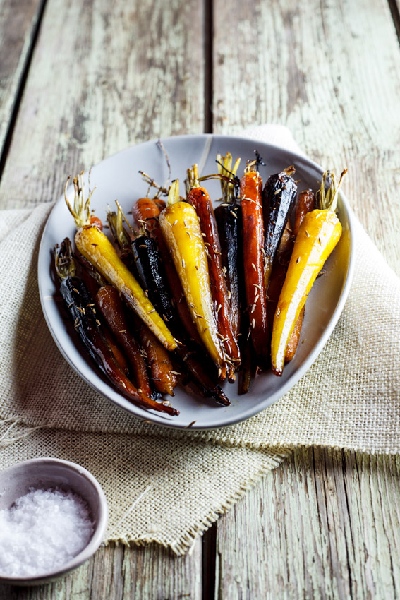 Honey and cumin roasted carrots