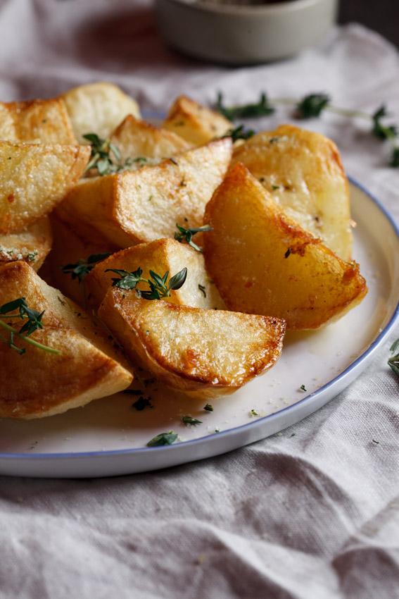 Roast potatoes with herbed salt