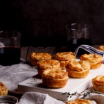 Mini chicken pies with exotic mushrooms