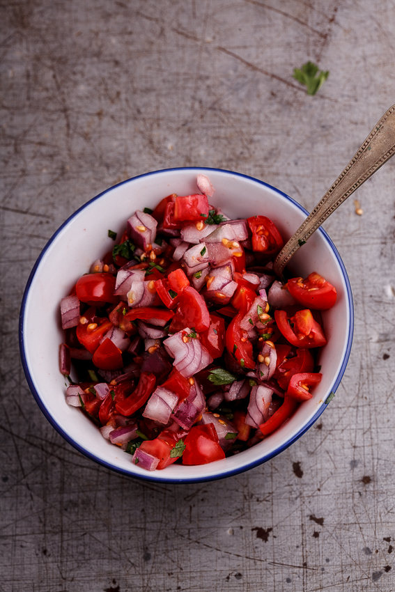 Simple tomato and onion salsa