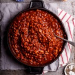 Sweet and smoky cowboy beans