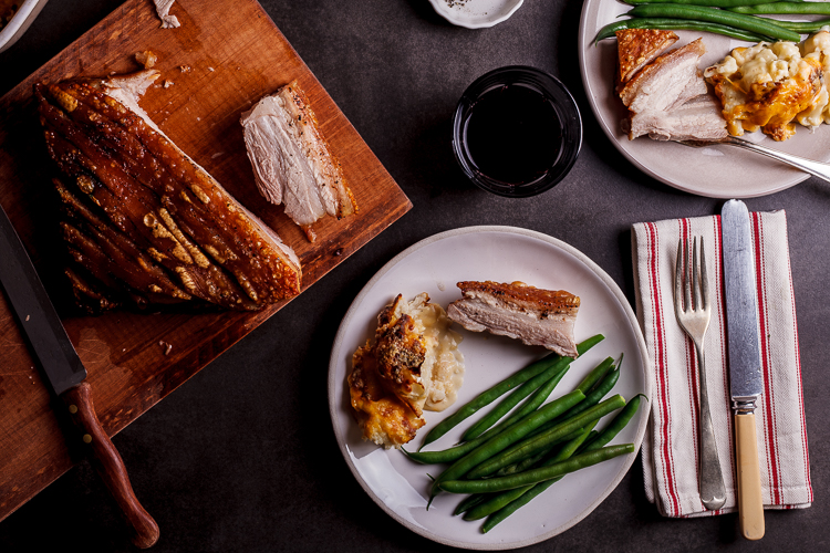 Salt and pepper pork belly with perfect crispy crackling - Simply