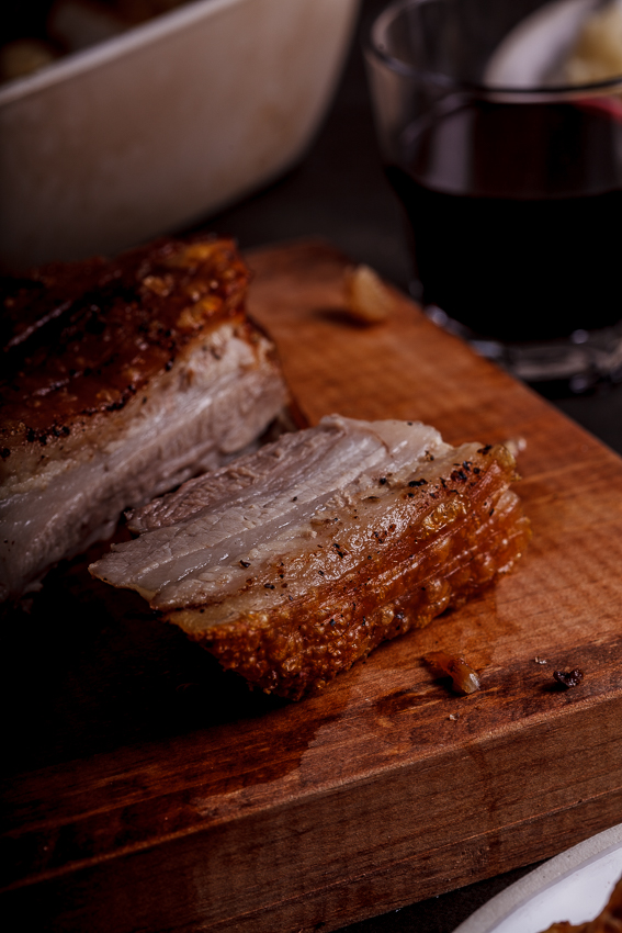 Crisp salt and pepper pork belly