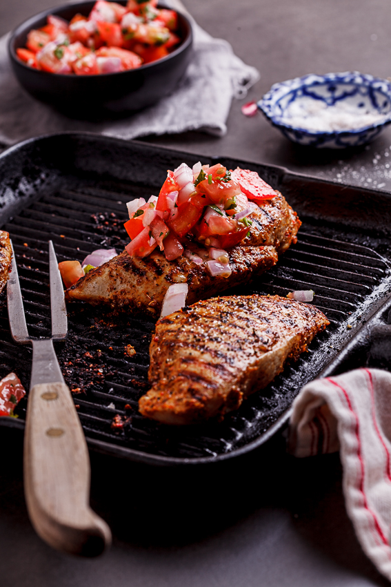 Mexican chicken with pico de gallo