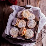 Raspberry vanilla cookie sandwiches