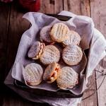 Raspberry vanilla cookie sandwiches