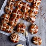 Choc chunk hot cross buns