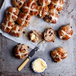 Chocolate chunk hot cross buns