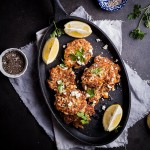 Cauliflower and Feta cheese fritters