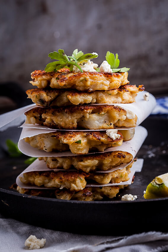 Cauliflower and feta fritters (1)