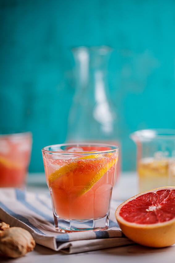 Fresh grapefruit and ginger paloma