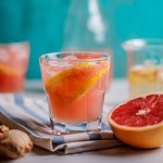 Fresh grapefruit and ginger Paloma