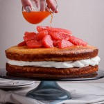 Grapefruit and almond cake