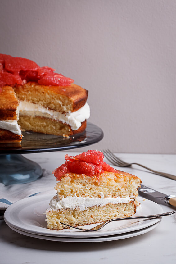 Grapefruit and almond cake