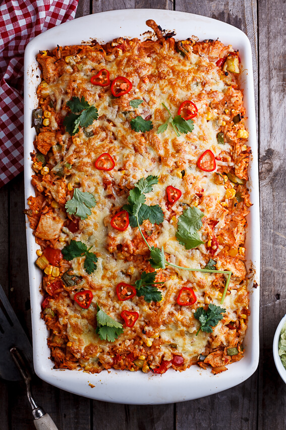 Mexican chicken and rice casserole
