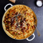 Butternut risotto with haloumi