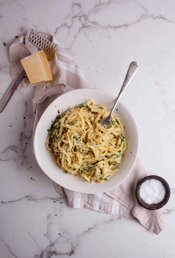Herbed four cheese linguini