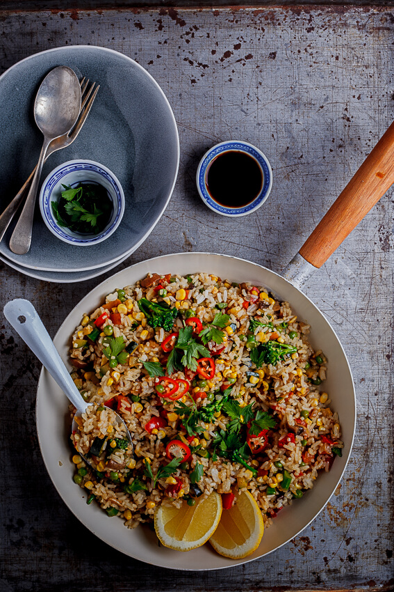 Quick And Easy Vegetable Fried Rice Simply Delicious