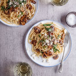 Garlic butter mushroom spaghetti