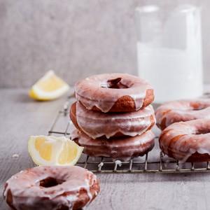 Lemon glazed doughnuts