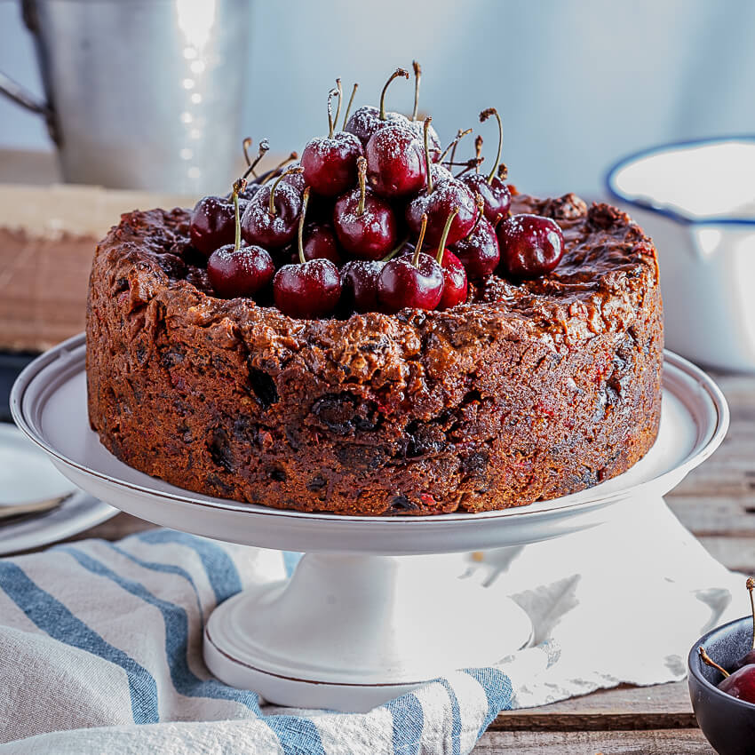 Classic fruit cake with salted maple syrup - Simply Delicious
