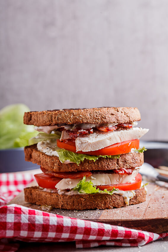 Turkey BLT Club sandwich