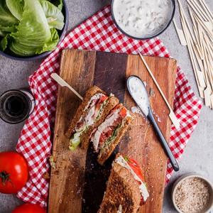Turkey BLT Club sandwich