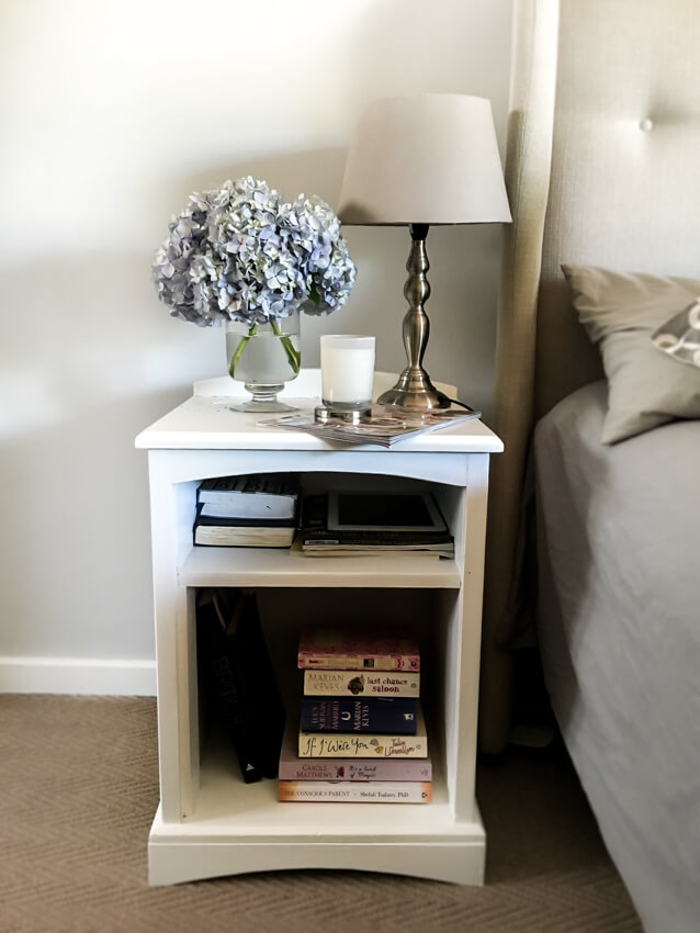 Hydrangeas on nightstand