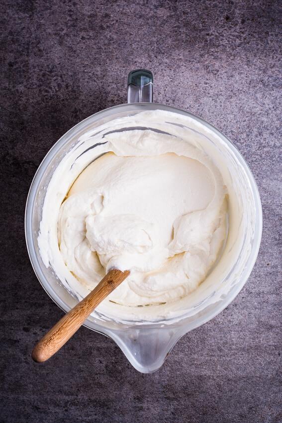 Praline cream filling for dulce de leche chocolate cake