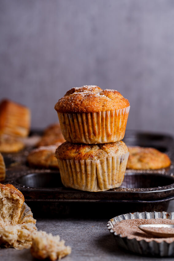 Banana, date and pecan muffins